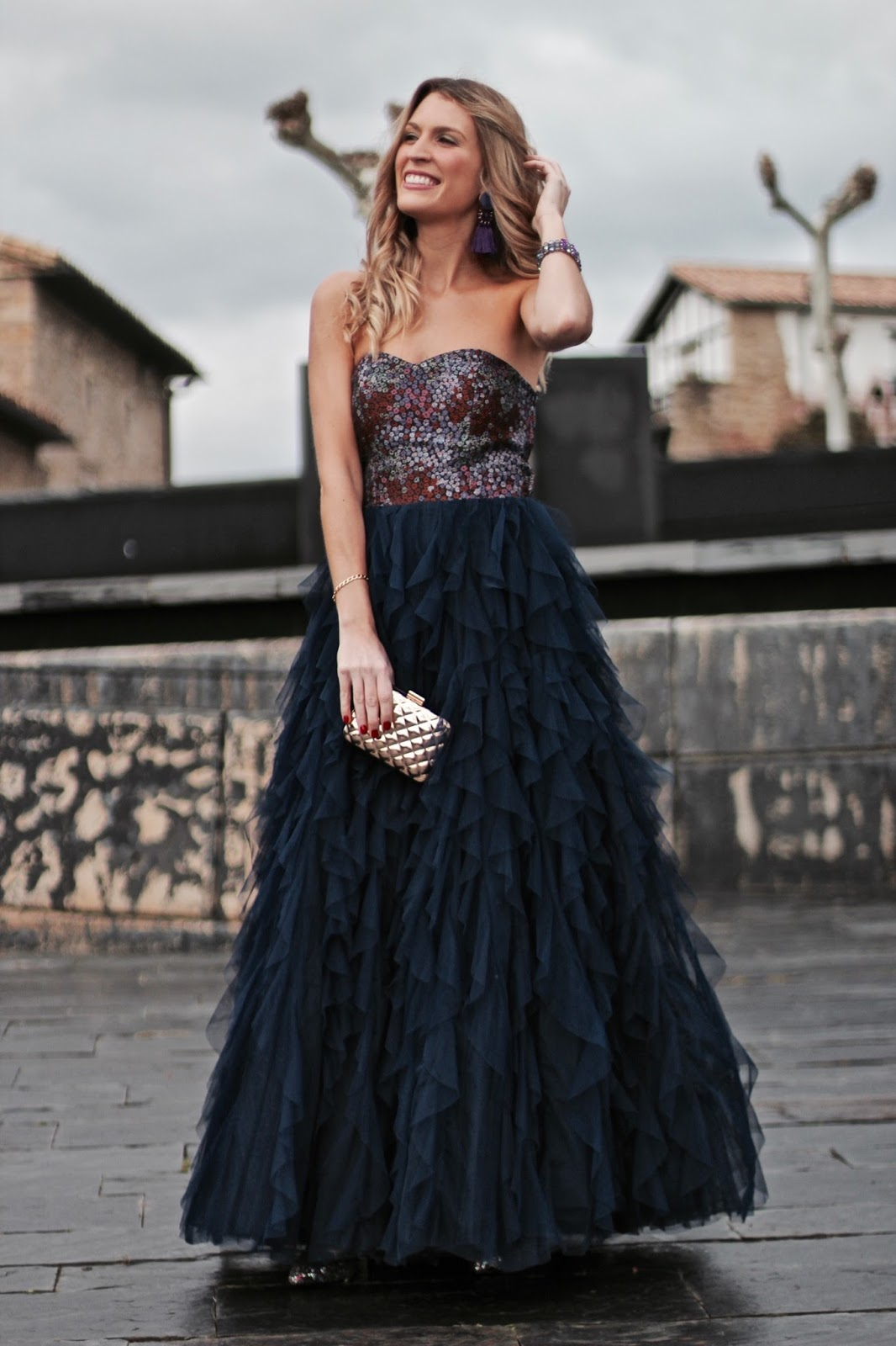 vestido de fiesta largo