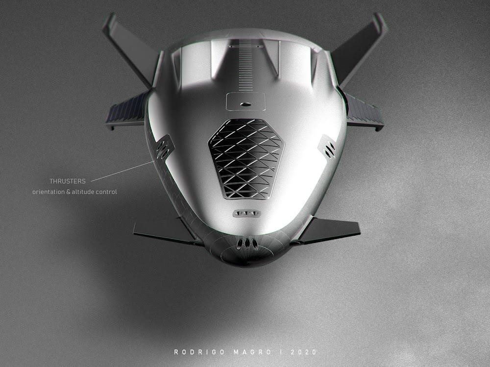 SpaceX orbital shuttle concept by Rodrigo Magro - thrusters