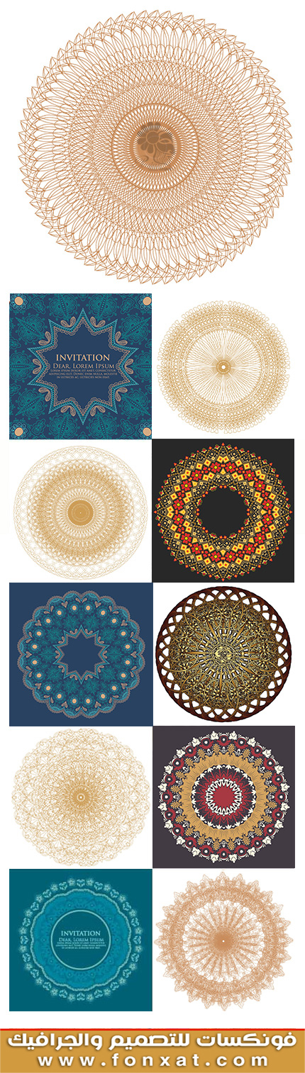 Download images, vector decorative circle