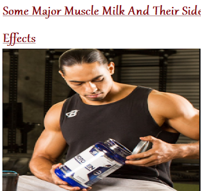 Muscle Milk And Their Side Effects