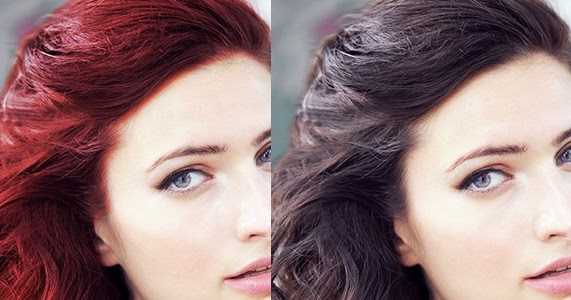 Photoeffect How To Change Hair Color Using Paint Net