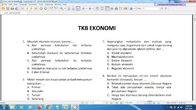 Download contoh soal pppk skb ekonomi dan kunci jawaban