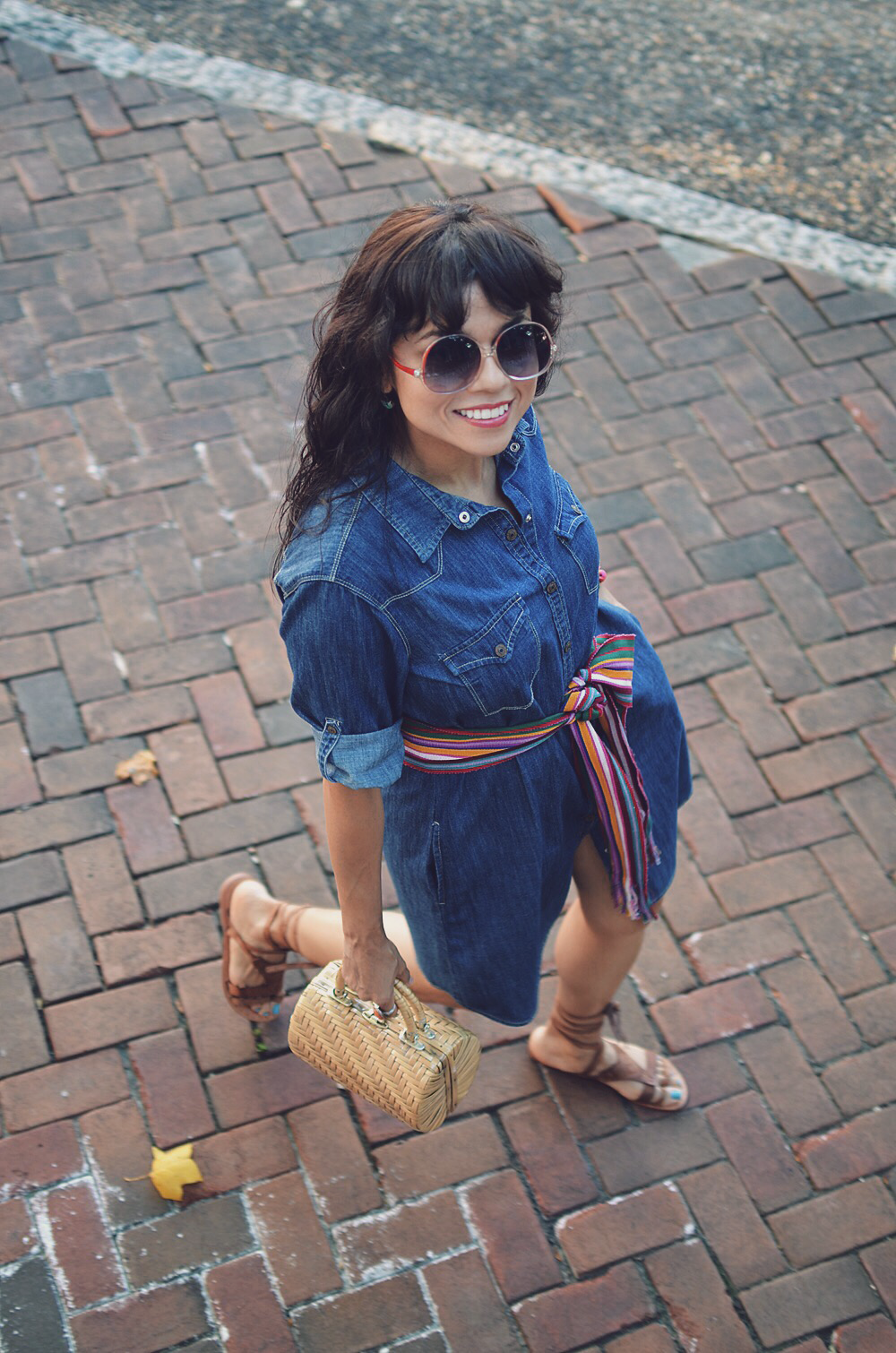 Chambray dress street style