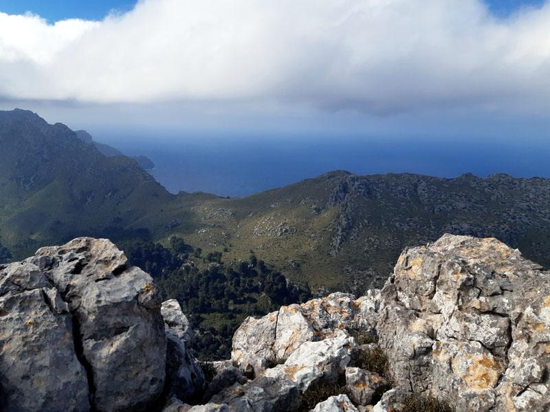 Vista sulla costa nord di Maiorca dalle montagne sopra Pollenca