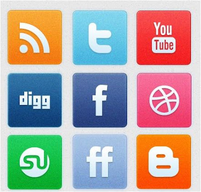 Icons, Social Bookmarks Icons, Clean Noise Social Icon Set