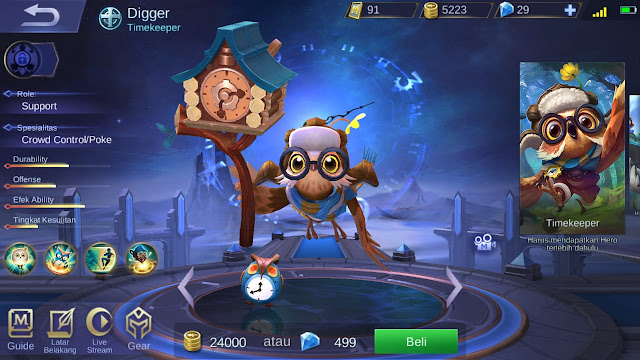 Support Terkuat di Mobile Legends Season 11 Diggie