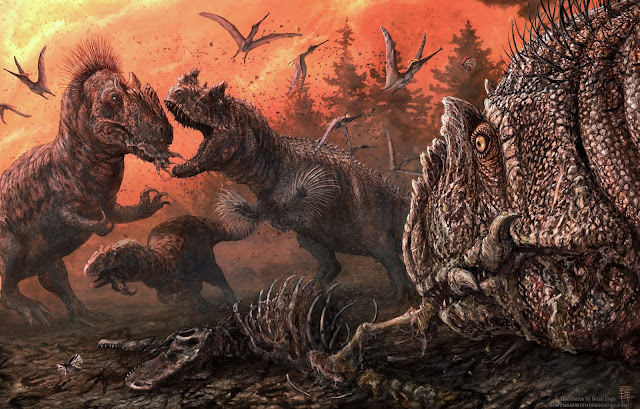 In stressed ecosystems Jurassic dinosaurs turned to scavenging, maybe even cannibalism