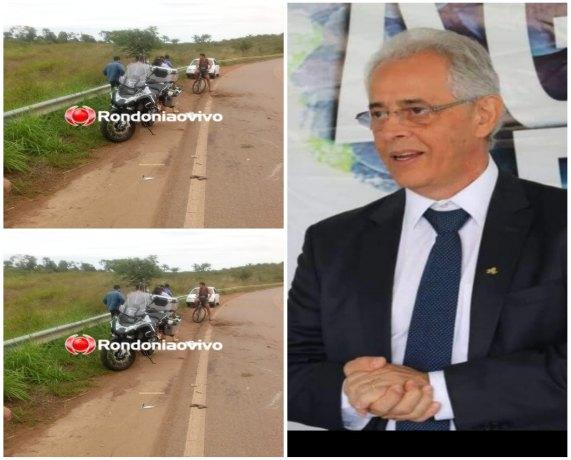 URGENTE: Superintendente do Banco Basa morre em acidente de moto na BR-319