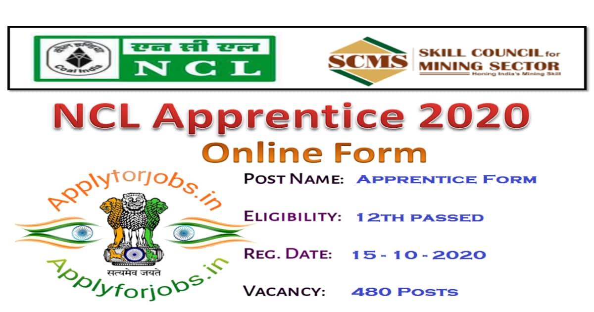 NCL Apprentice Online Form 2020, applyforjobs.in