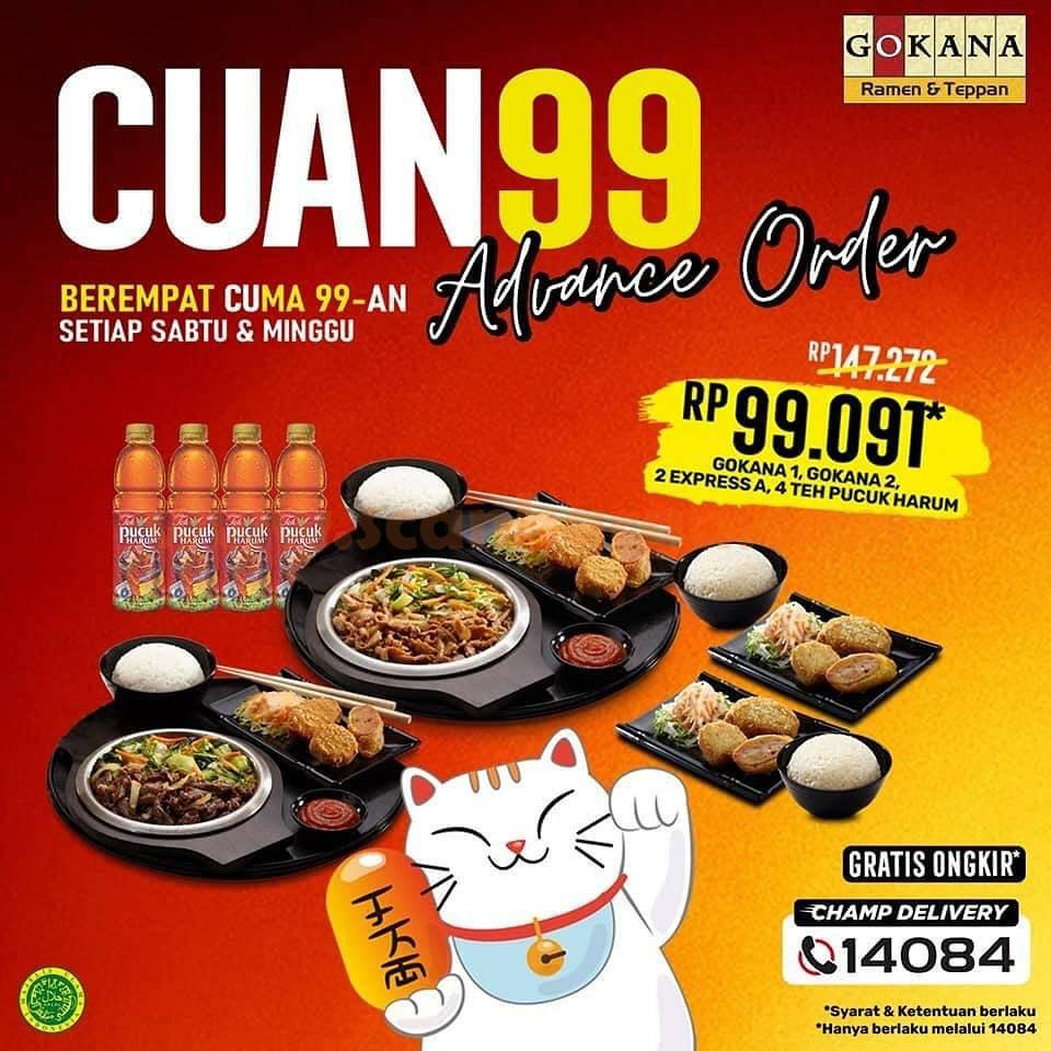 Gokana Promo Cuan 99 Advance Order