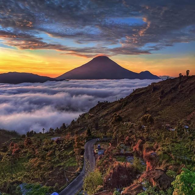 Bukit Awan Sikapuk Wonosobo Jawa Tengah