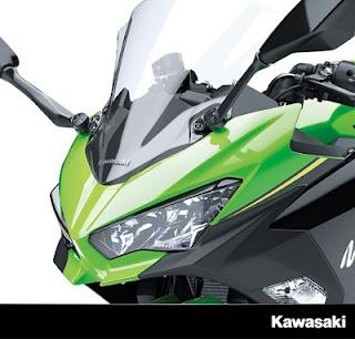 lampu depan modifikasi Kawasaki Ninja 250 cc 2018