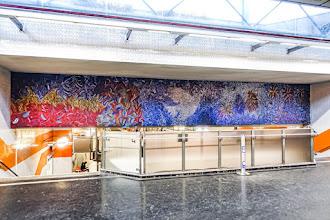 Art : Mosaïque de la station de métro Bobigny Pablo Picasso, petite histoire de la colombe de Picasso, symbole universel de paix