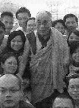 His Holiness Dalai Lama and me