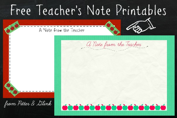 Today I M Sharing Two Printable Teacher S Notes So That Other Teachers Can Nerd Out A Little With Me Over Some New Clroom Supplies