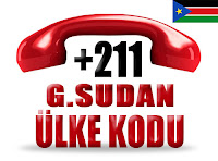+211 Güney Sudan ülke telefon kodu
