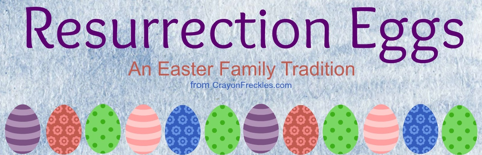 picture regarding Resurrection Egg Story Printable named Crayon Freckles: Resurrection Eggs: The Easter Tale for