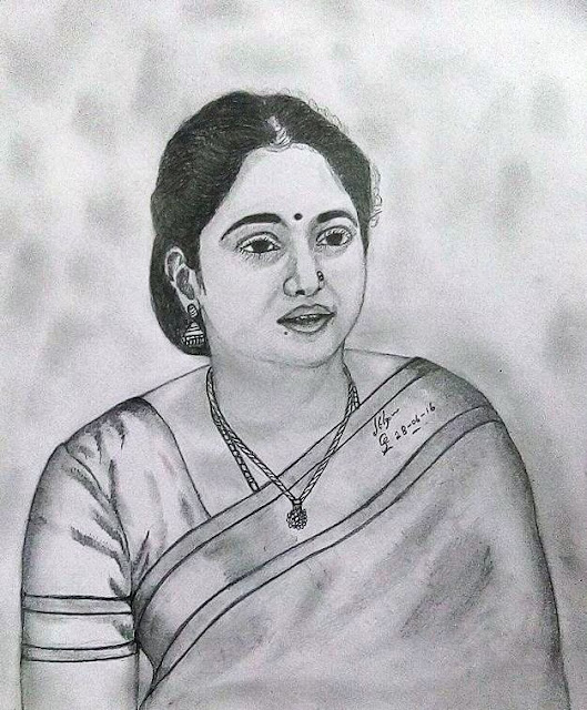 PENCIL DRAWING - DEVAYANI ( ACTRESS)