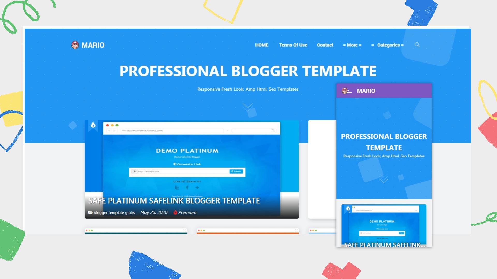 mario-premium-blogger-template