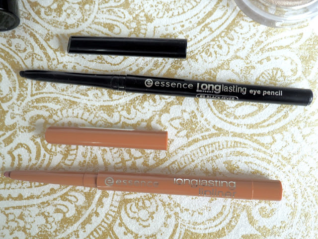essence long lasting lip pencil eye pencil lovely frappuccino black fever review