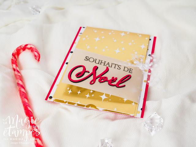 Carte de Noël Stampin' Up! a pliage original utilisant le jeu d'étampes Joyeux Noël à tous