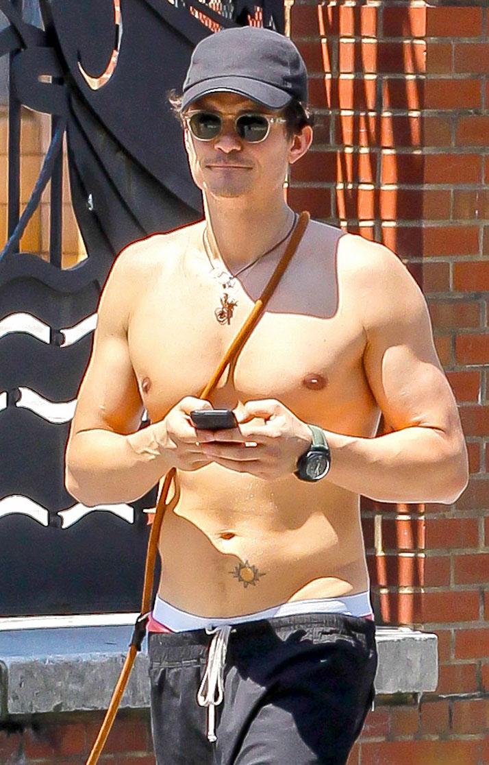 Orlando Bloom shirtless workout at gym | The Advertiser