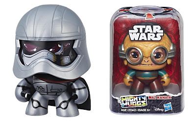 Star Wars The Force Awakens Mighty Muggs Mini Figure Series by Hasbro - Captain Phasma & Maz Kanata