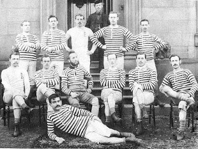 Darwen FC in 1879 - Fegus Suter pictured on the ground