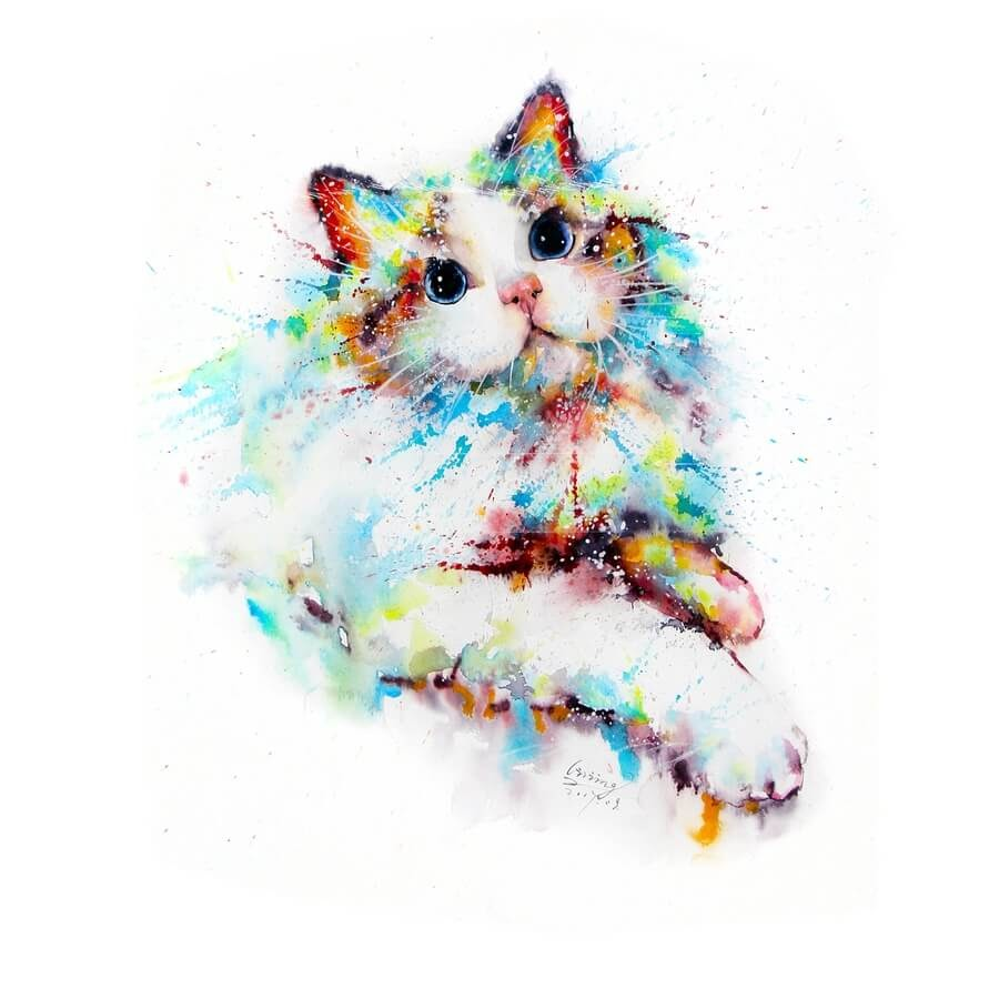 08-Cat-Watercolor-Paintings-liviing-www-designstack-co