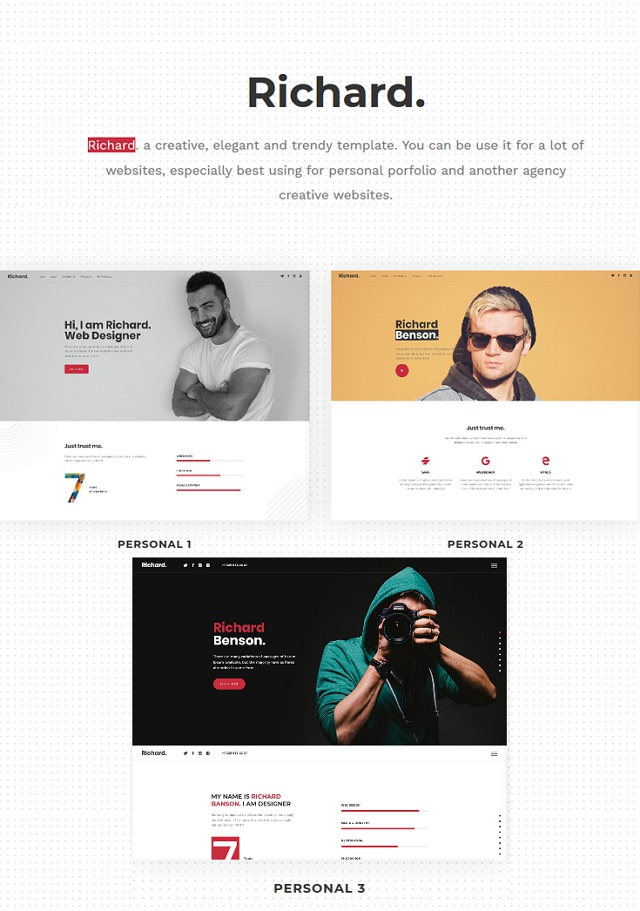 Onepage Personal WordPress Theme