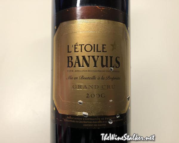Domaine de l'Étoile Banyuls Grand Cru 2000