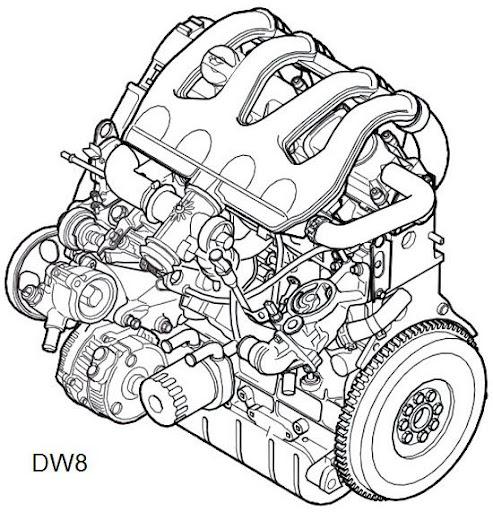 LDV Pilot van: LDV Pilot engine drawing