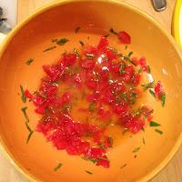 Pasta al pomodoro con judias verdes, preparación 2