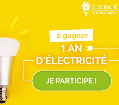 A gagner : 1 an d'électricité gratuite