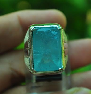 cincin batu aquamarine