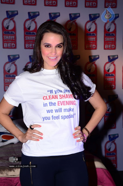 Neha Dhupia tight pants Gillette Shave Crave Event