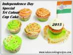 Tri ColourCup Cake