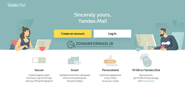 Penyedia Email Gratis Yandex Mail