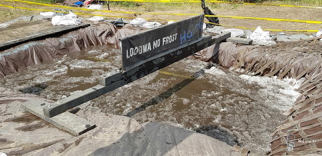 Lodowata woda w szczecinie runmageddon