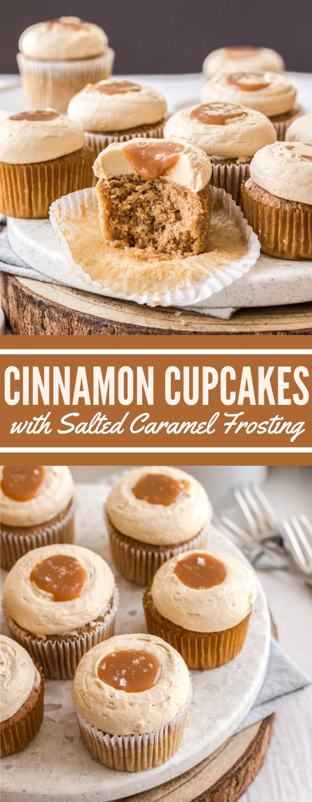 CINNAMON CUPCAKES WITH SALTED CARAMEL FROSTING #desserts #sweets #cake #frosting #cupcake