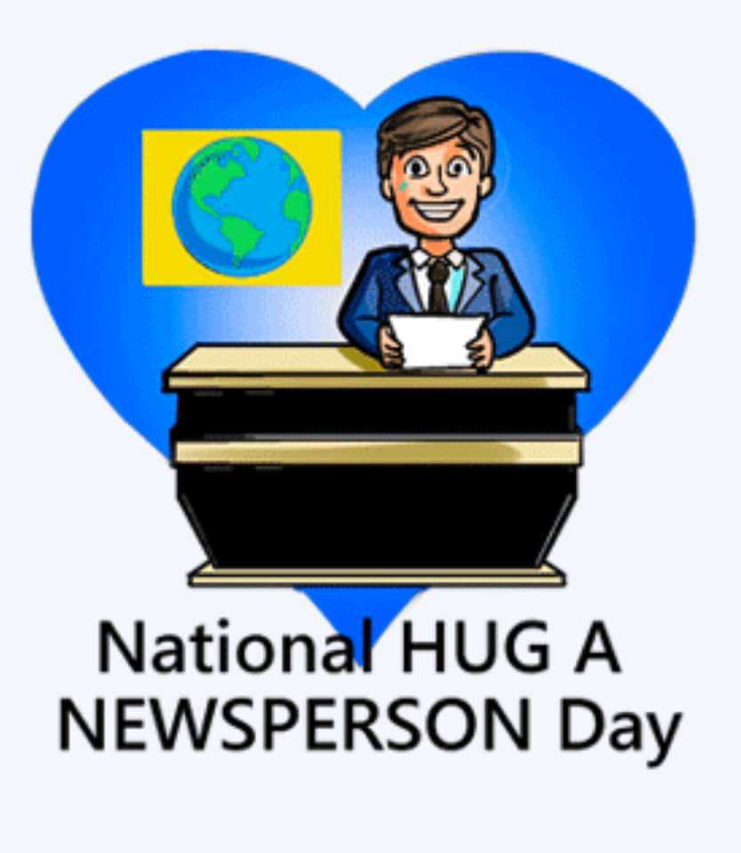 National Hug a Newsperson Day Wishes For Facebook