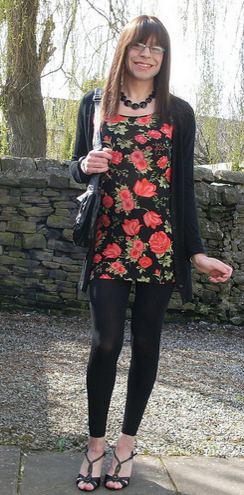 Emma Ballantyne rose print dress