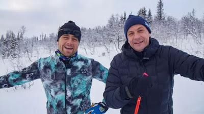 Hans Olsson och Petter Alexis Askergren i skidkläder