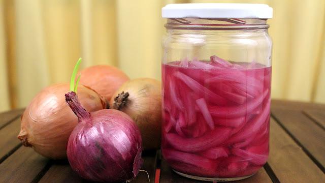 Cebola roxa FERMENTADA PROBIÓTICA | Sem vinagre | Picles rico em lactobacilos vivos
