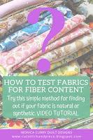 Test Fabrics for Fiber Content - Quilting Tutorial