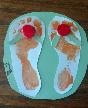 f360a7707 Our Pinteresting Family  Summer Footprint Craft