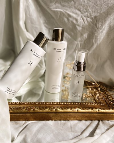 Thickening Shampoo y Thickening Conditioner revitalash