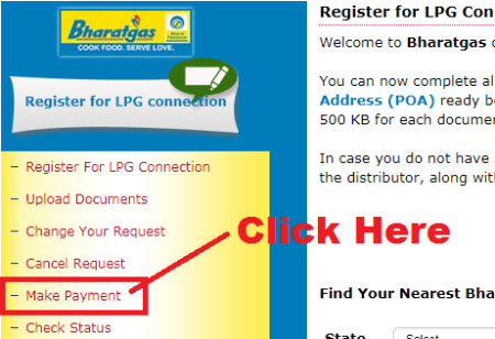 bharat gas online payment
