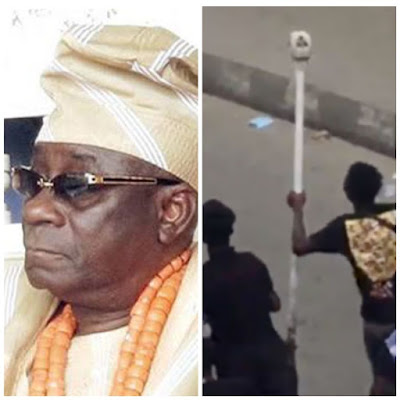 VIDEO: Traditional Rulers in Lagos Threaten to Cast Spell on Persons With Oba's Staff