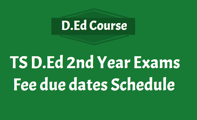 TS DEd 2nd year exams Fee dates